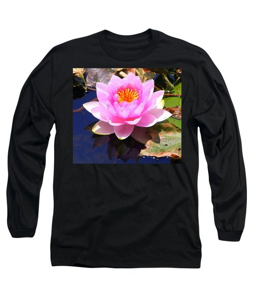 Water Lily In Pink Long Sleeve T-Shirt