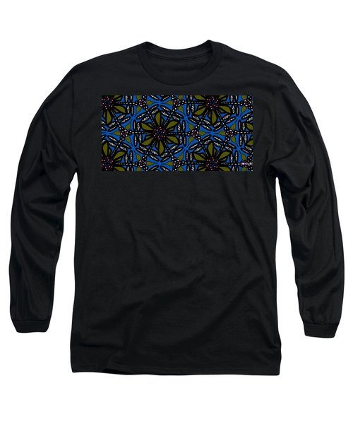 Long Sleeve T-Shirt featuring the digital art Water Plant And Dragonfly by Elizabeth McTaggart