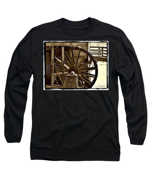 Long Sleeve T-Shirt featuring the photograph Water Wheel At The Grist Mill by Tara Potts