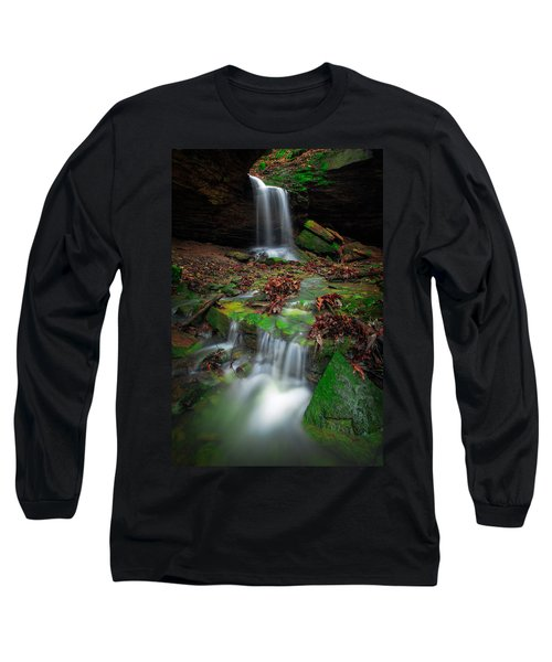 Frankfort Mineral Springs Waterfall  Long Sleeve T-Shirt