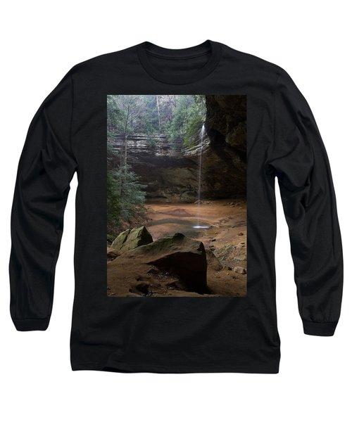 Waterfall At Ash Cave Long Sleeve T-Shirt