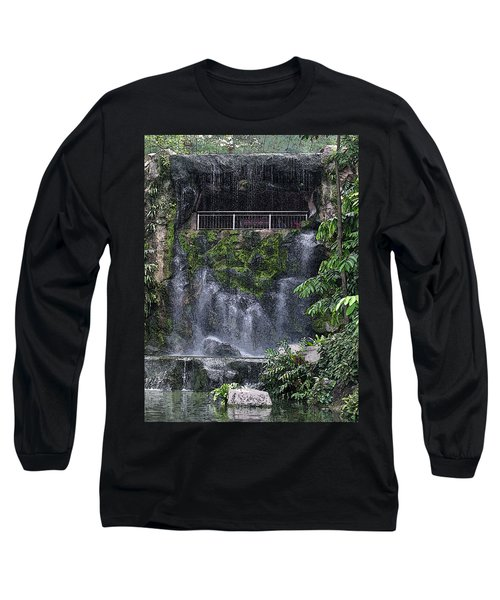 Long Sleeve T-Shirt featuring the painting Waterfall by Sergey Lukashin