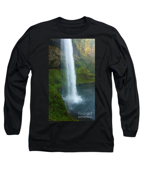 Waterfall View Long Sleeve T-Shirt by Susan Garren
