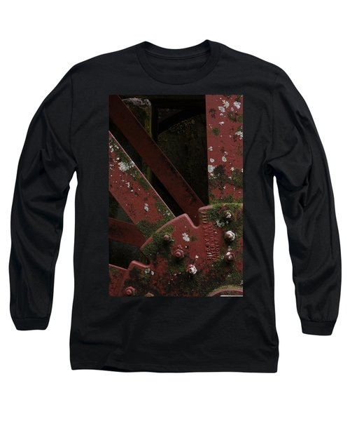 Long Sleeve T-Shirt featuring the photograph Waterwheel Up Close by Daniel Reed