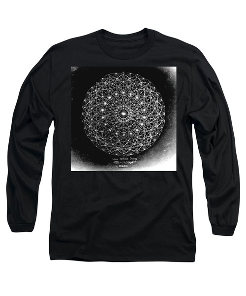 Wave Particle Duality Black White Long Sleeve T-Shirt