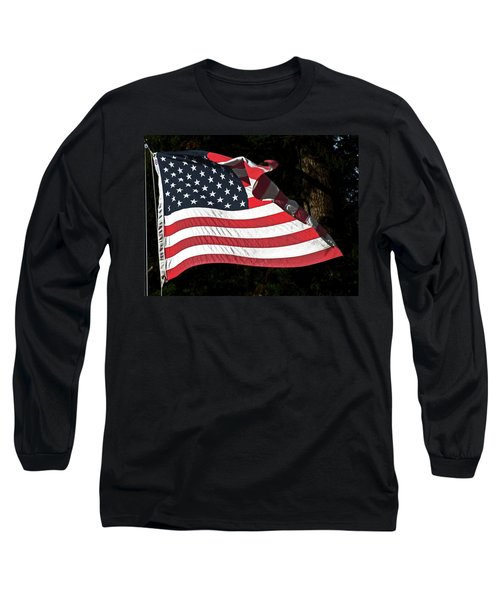 Waving Flag Long Sleeve T-Shirt