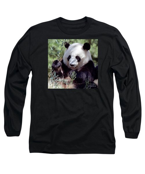 Waving The Bamboo Flag Long Sleeve T-Shirt by Liz Leyden