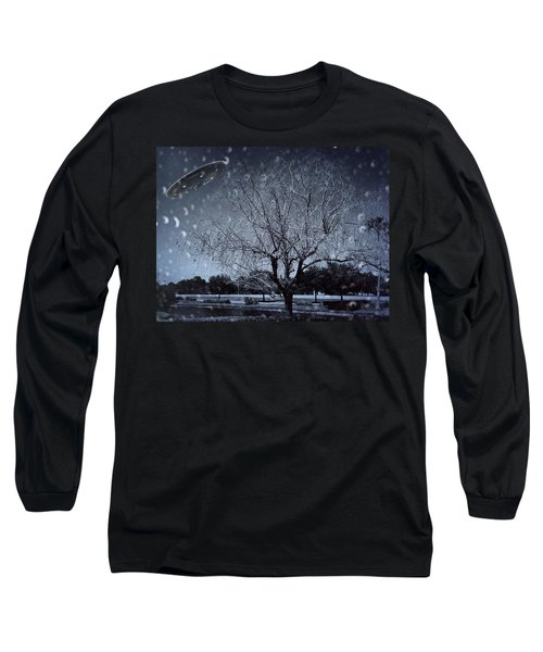 We Are Not Alone Long Sleeve T-Shirt by Carlos Avila