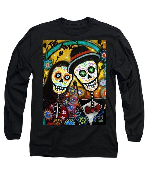 Wedding Dia De Los Muertos Long Sleeve T-Shirt