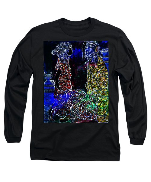 Long Sleeve T-Shirt featuring the painting Wedding In Cana by Gloria Ssali