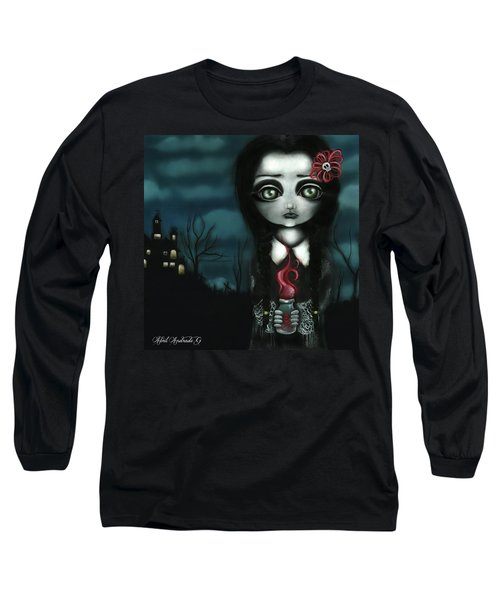 Wednesday  Long Sleeve T-Shirt by Abril Andrade Griffith