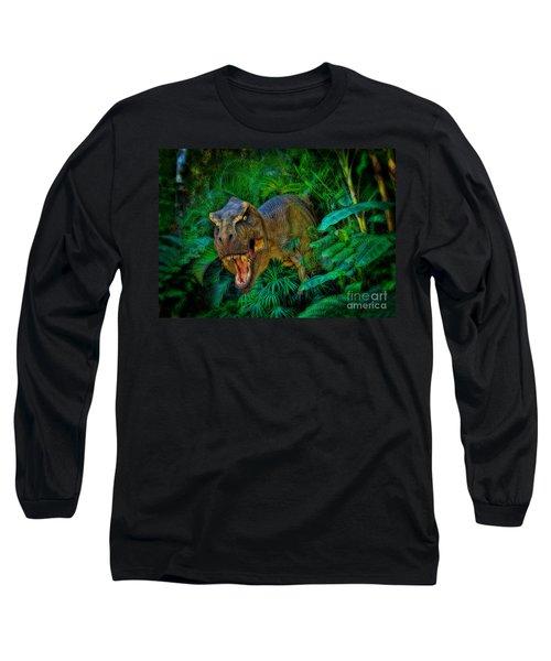 Welcome To My Park Tyrannosaurus Rex Long Sleeve T-Shirt