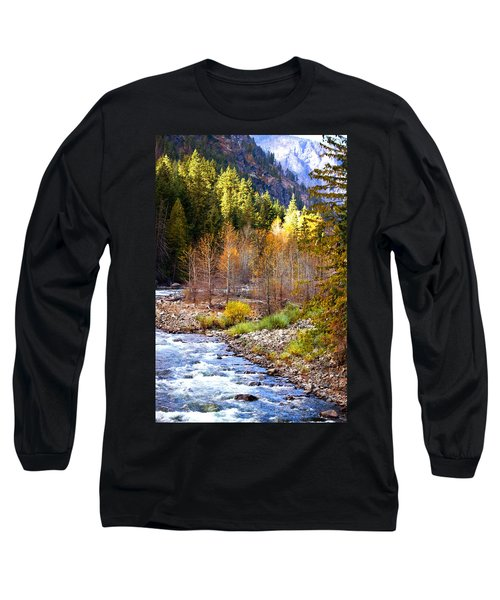 Wenatchee River - Leavenworth - Washington Long Sleeve T-Shirt