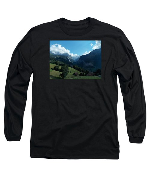 Wengen View Of The Alps Long Sleeve T-Shirt