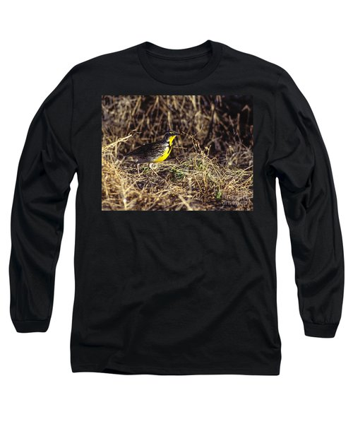 Western Meadowlark Long Sleeve T-Shirt by Steven Ralser