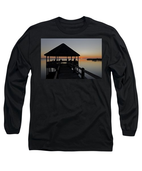 Long Sleeve T-Shirt featuring the photograph Whalehead Sunset Obx by Greg Reed