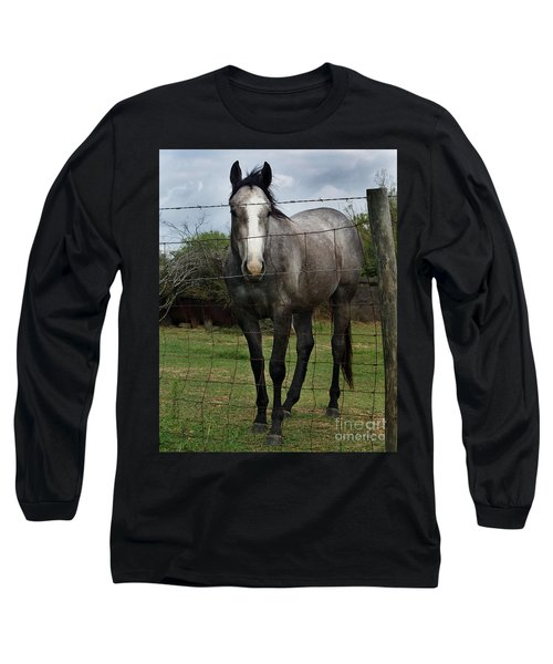 Long Sleeve T-Shirt featuring the photograph What Are You Afraid Of by Peter Piatt