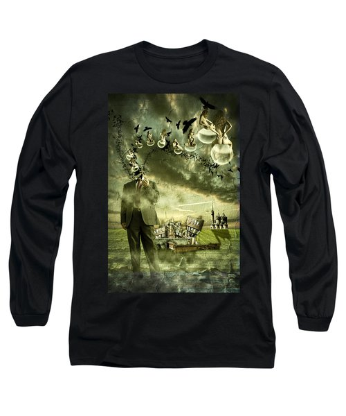 What Are You Thinking Long Sleeve T-Shirt by Nathan Wright
