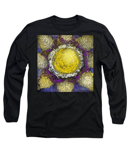 Long Sleeve T-Shirt featuring the digital art What Kind Of Sun II by Carol Jacobs