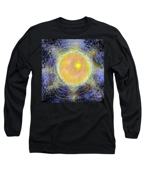 Long Sleeve T-Shirt featuring the digital art What Kind Of Sun V by Carol Jacobs