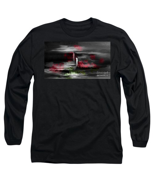 Long Sleeve T-Shirt featuring the painting What Will Tomorrow Bring by Annie Zeno