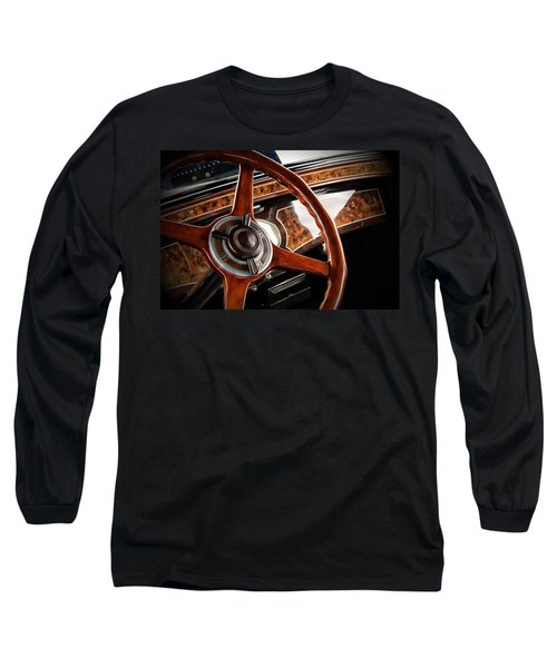 Vintage Long Sleeve T-Shirt featuring the photograph Wheel To The Past by Aaron Berg
