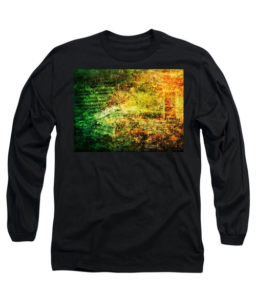 Long Sleeve T-Shirt featuring the mixed media When Past And Present Intersect #1 by Sandy MacGowan