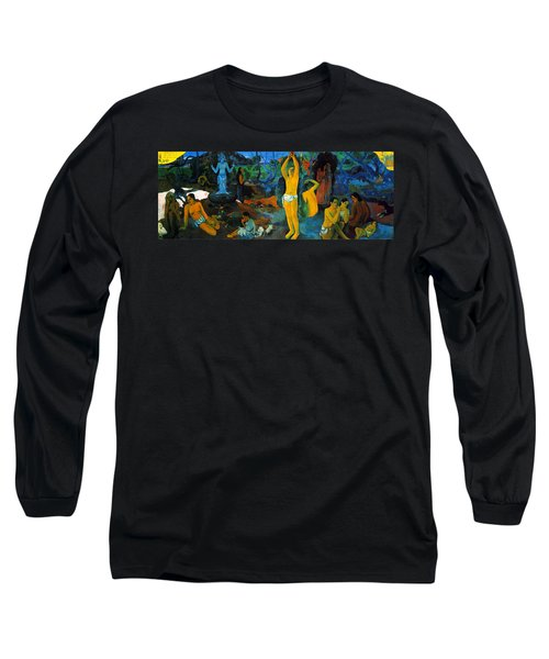Where Do We Come From. What Are We Doing. Where Are We Going Long Sleeve T-Shirt
