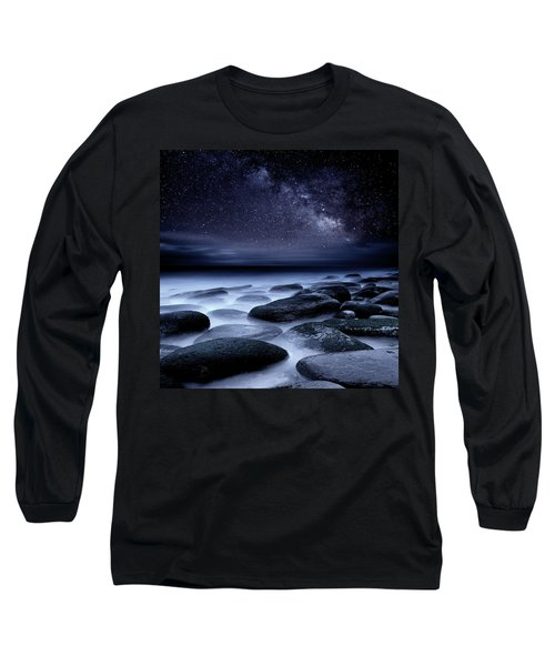 Where No One Has Gone Before Long Sleeve T-Shirt by Jorge Maia