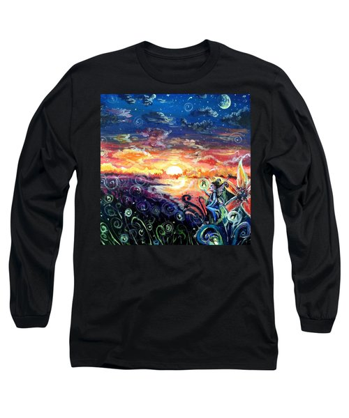 Long Sleeve T-Shirt featuring the painting Where The Fairies Play by Shana Rowe Jackson