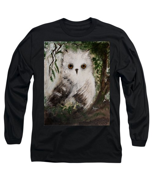 Whisper The Snowy Owl Long Sleeve T-Shirt