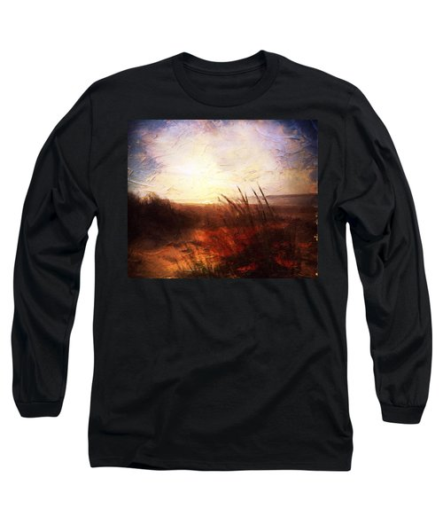 Whispering Shores By M.a Long Sleeve T-Shirt