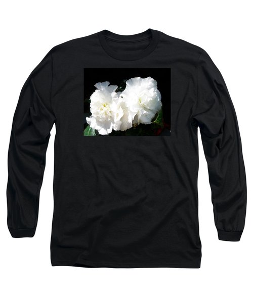 White Begonia  Long Sleeve T-Shirt by Sharon Duguay