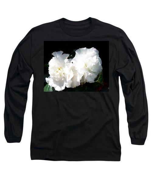 White Begonia  Long Sleeve T-Shirt