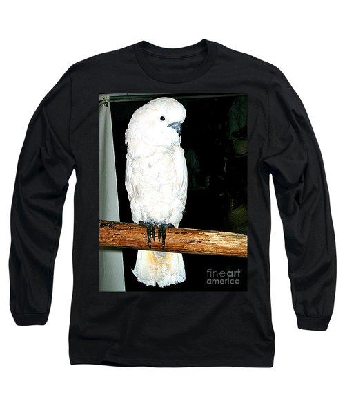 White Cockatiel-loreto Mx. Long Sleeve T-Shirt by Jay Milo
