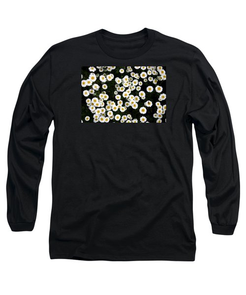 Long Sleeve T-Shirt featuring the photograph White Daisys by Jean Walker