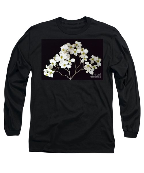 Long Sleeve T-Shirt featuring the photograph White Dogwood Branch by Jeannie Rhode