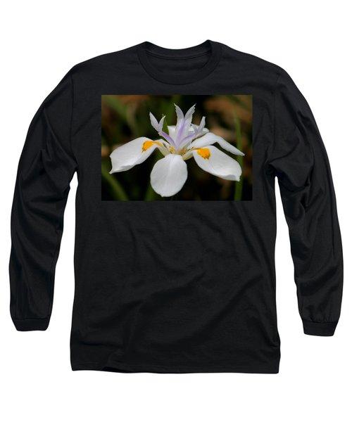 White Flower Long Sleeve T-Shirt by Pamela Walton