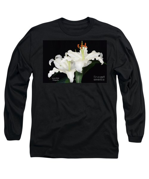 Long Sleeve T-Shirt featuring the photograph White  Lilies by Jeannie Rhode