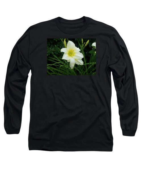 White Lily Long Sleeve T-Shirt by Catherine Gagne