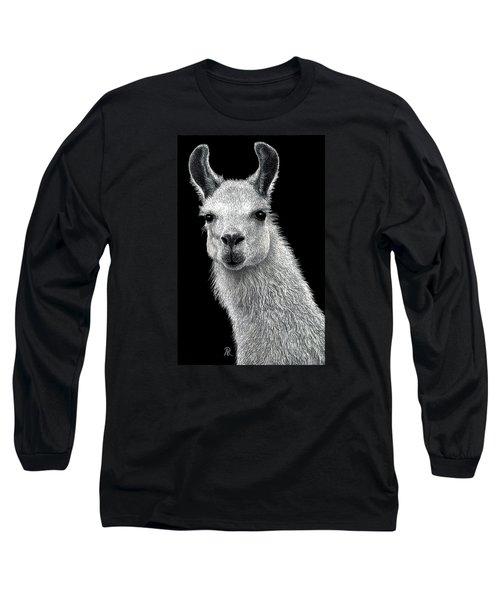 White Llama Long Sleeve T-Shirt