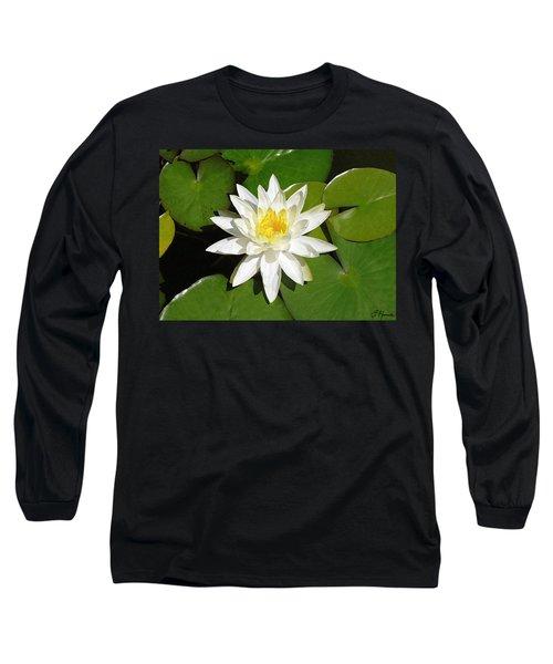 White Lotus 1 Long Sleeve T-Shirt by Ellen Henneke