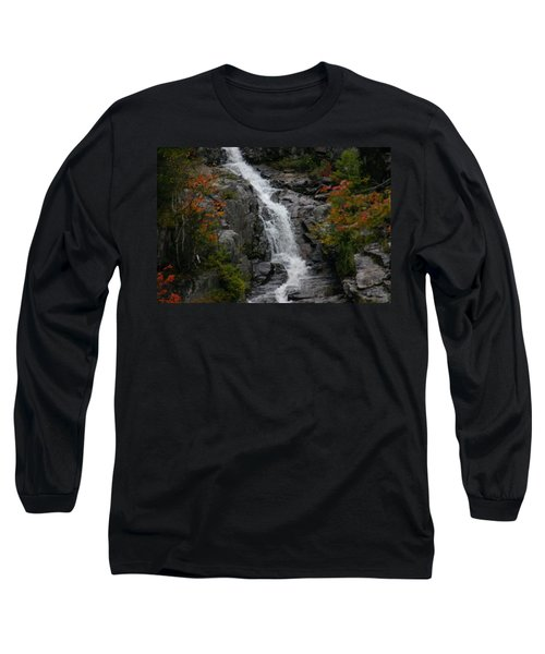 Long Sleeve T-Shirt featuring the photograph White Mountain Water Fall  by Denyse Duhaime