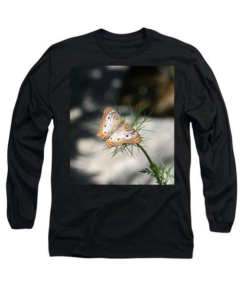 White Peacock Long Sleeve T-Shirt