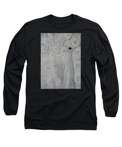 White Peacock Long Sleeve T-Shirt by Patricia Olson