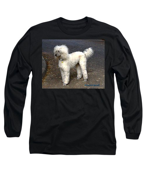 White Poodle Long Sleeve T-Shirt