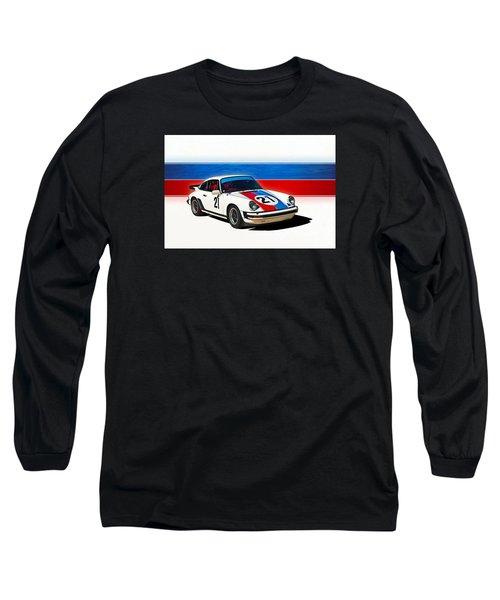 White Porsche 911 Long Sleeve T-Shirt