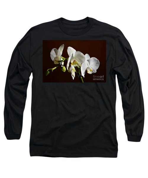 Long Sleeve T-Shirt featuring the photograph White by Ramona Matei