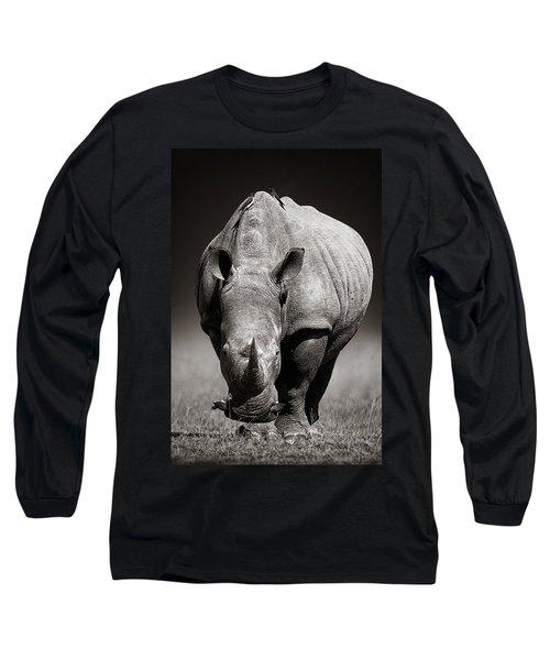 White Rhinoceros  In Due-tone Long Sleeve T-Shirt