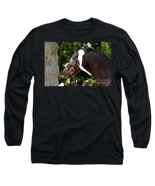 White Ribbon Long Sleeve T-Shirt